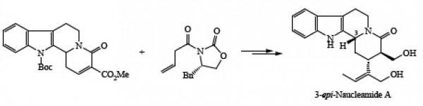 42. Aibibula, P.; Huang, Z.; Jia, Y., Asymmetric total synthesis of 3-epi-naucleamide A. J. Chin. Pharm. Sci. 2016, 25, (1), 30-36.